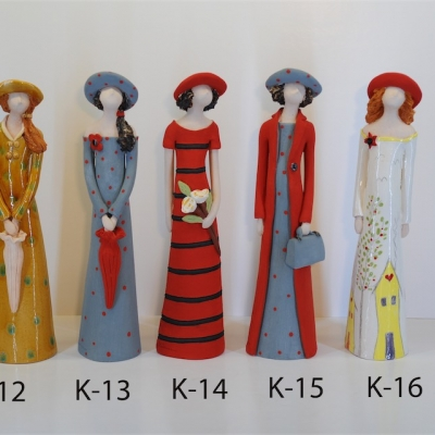 Hand Made Ceramic Doll K12