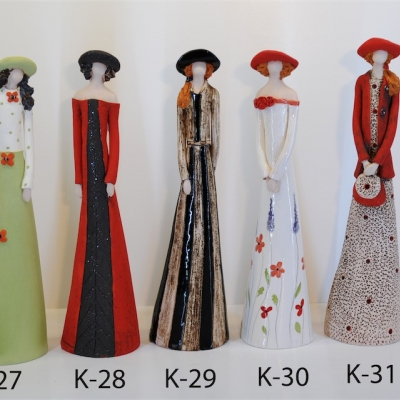 Hand Made Ceramic Doll K27