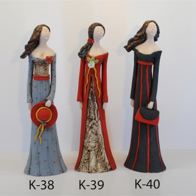 Hand Made Ceramic Doll K39