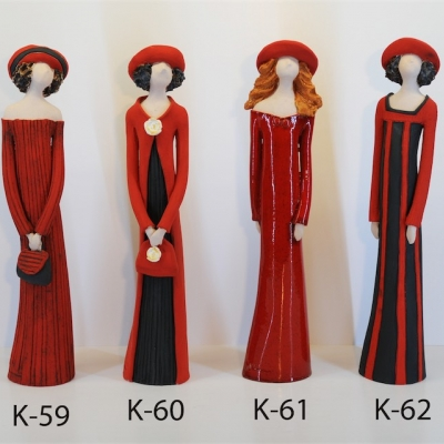 Hand Made Ceramic Doll K59