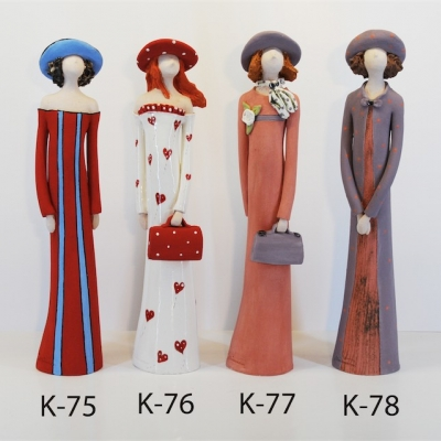 Hand Made Ceramic Doll K78