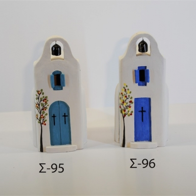 Hand Made Ceramic Church Σ96