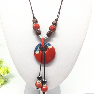 Ceramic hand made necklace